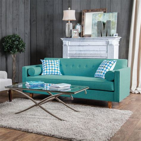 sofa turquesa sala color azul turquesa en la decoraci 243 n de interiores casa