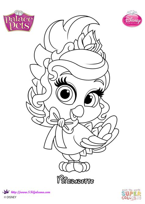 palace pets birdadette coloring page  printable
