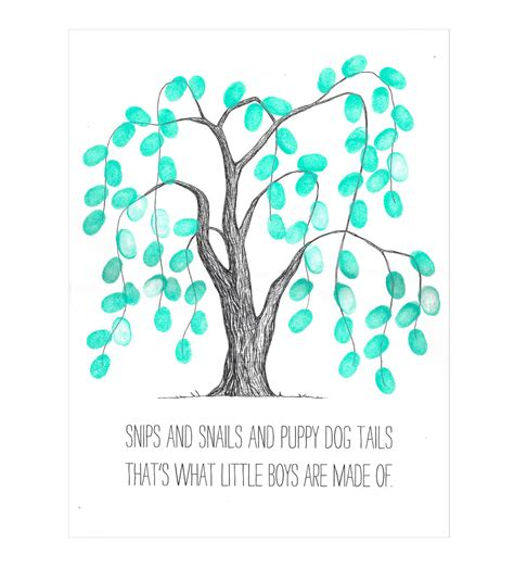 baby shower fingerprint tree weeping willow thumbprint tree guestbook poster baby shower