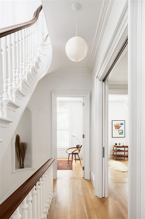 Interior Decor by Restored Brownstone House With Fresh Contemporary
