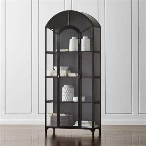 ventana glass display cabinet reviews crate  barrel