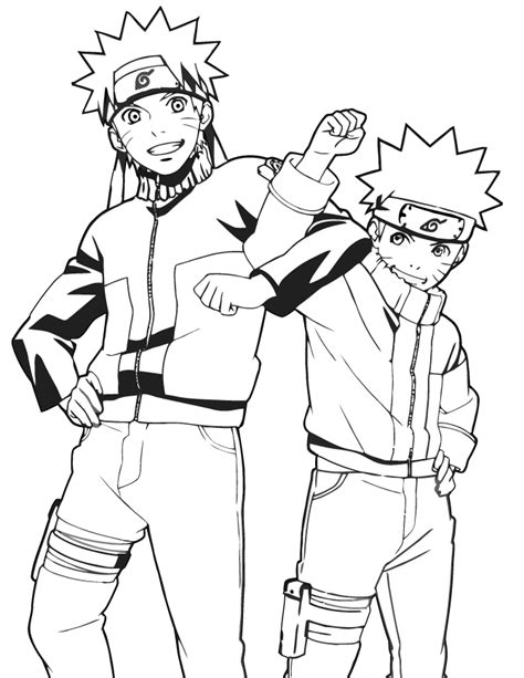 naruto cartoon anime coloring page   coloring pages