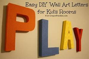 Wall Art Ideas Design : Play Colorfull Letter Wall Art