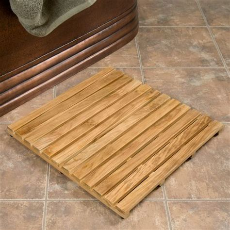 Teak Shower Mat From Signature Hardware  Perfect For