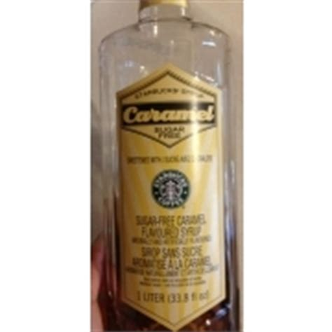 Upouria french vanilla & caramel flavored syrup. Starbuck's Sugar Free Caramel Syrup: Calories, Nutrition Analysis & More | Fooducate