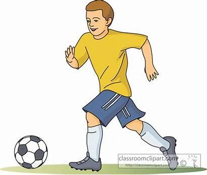 Soccer Clipart Sports Clip Ball Running Play