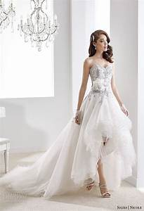 short wedding dresses nicole jolies collection 2016 With colored wedding dresses 2016