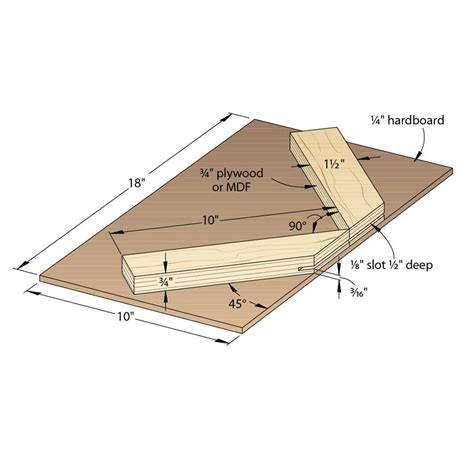 router table spline cutting jig woodworking plan  wood