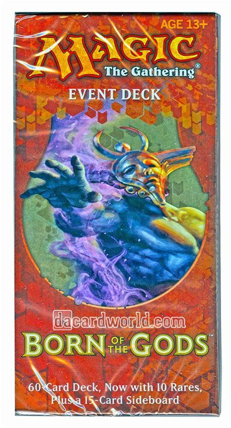 mtg intro decks born of the gods magic the gathering born of the gods event deck