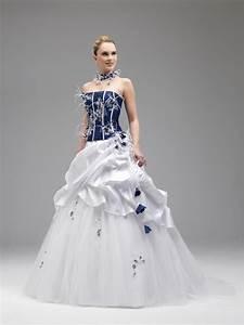 robe de mariee bleu et blanche le son de la mode With robe de mariée grise