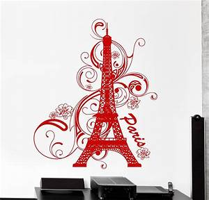 wall vinyl decal paris eiffel tower france amazing With awesome paris decals wall art ideas