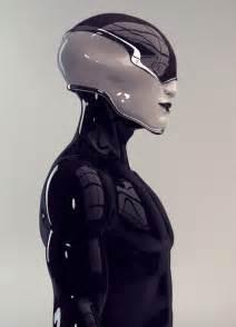 Futuristic Cyborg Helmet