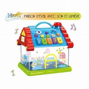 Maison D éveil : maison d 39 veil musicale et lumineuse jouet b b a la porte bleue ~ Teatrodelosmanantiales.com Idées de Décoration