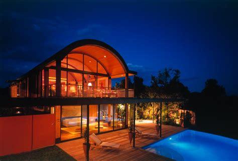 desert home  copper clad barrel roof