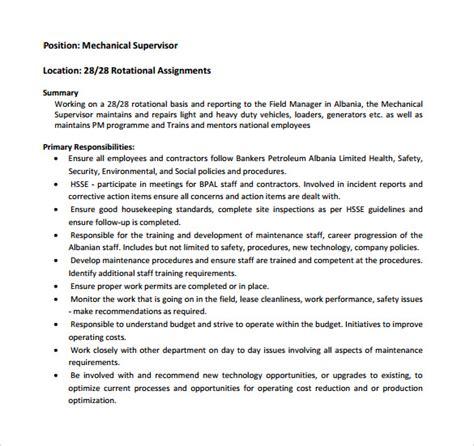 sample supervisor resume    documents
