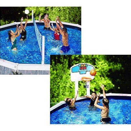 pool jam volleyball basketball combo   ground