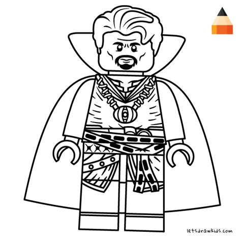 coloring page for kids how to draw lego doctor strange