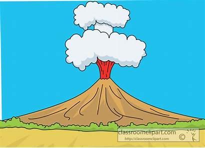 Volcano Clipart Lava Cartoon Ashes Geography Clip