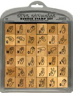 Sign Language Rubber Stamps