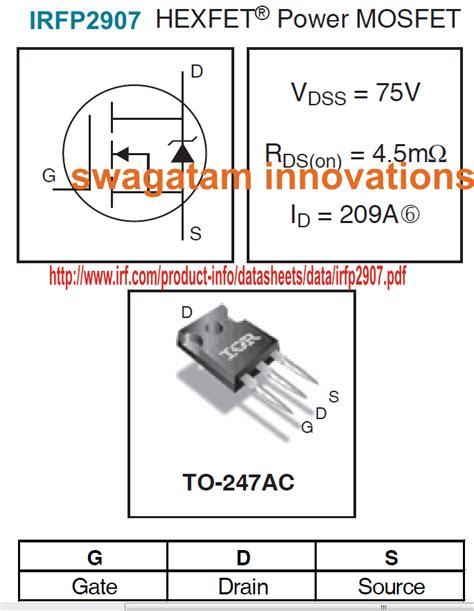 High Current Mosfet Irfp Datasheet Homemade Circuit