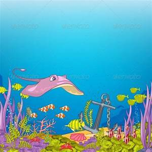 Ocean Underwater Cartoon by RAStudio | GraphicRiver