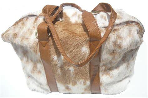 Cowhide Australia by Brown White Cowhide Bag Saddlery Australia