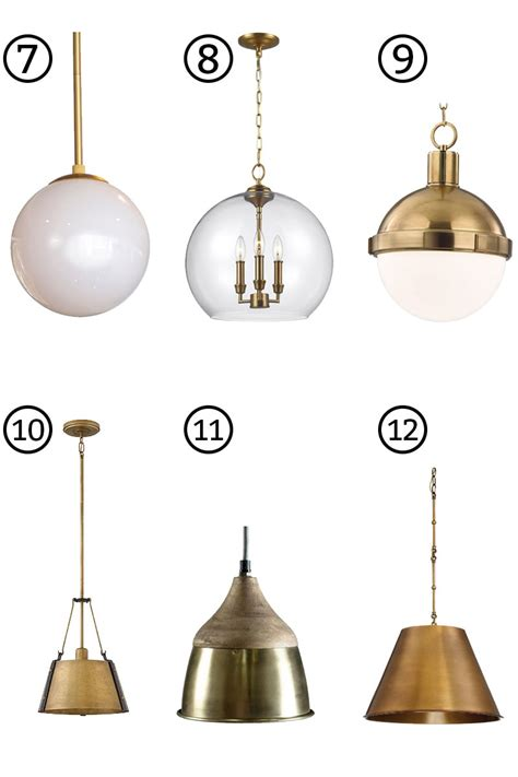 gold kitchen island lights brass