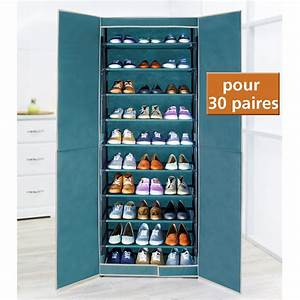 Armoire Chaussures BREEZE 30 Paires Turquoise