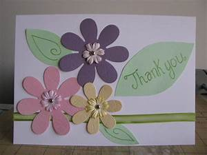 Thank you card - A simple and fast Handmade card | Friend ...