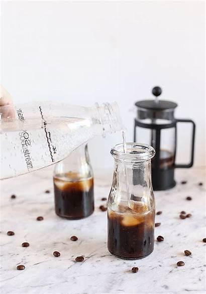 Sparkling Espresso Cocktail Sodastream Tea Fizzy Iced