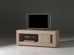 Meuble Tv Chene Massif Moderne : meuble tv moderne ~ Teatrodelosmanantiales.com Idées de Décoration