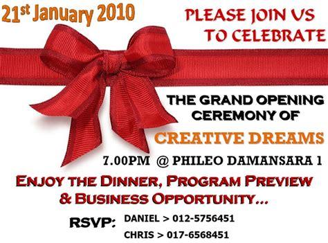 hero invitation grand opening ceremony