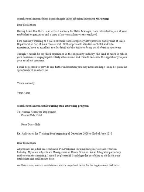 contoh surat lamaran dalam bahasa inggris lecturer r 233 sum 233