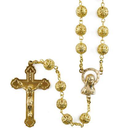 gold rosary filigree mpnter rosaries chaplets blais religious