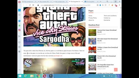 How To Download Gta Sargodha Game For Pc Youtube