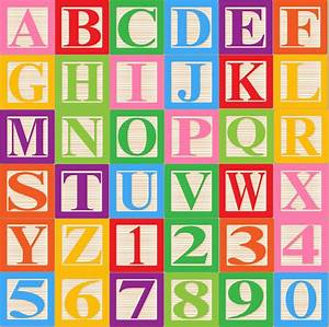 baby blocks alphabet font clip art clipart commercial and With blocks with letters