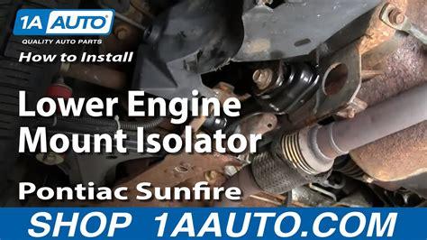 How Replace Engine Mount Pontiac Sunfire Youtube