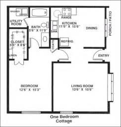 cottage house plans one 1 bedroom cottage plans studio design gallery best design