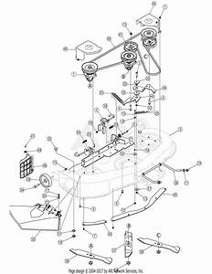 Mtd 13ap605h755  2006  Parts Diagram For Deck Assembly Pto