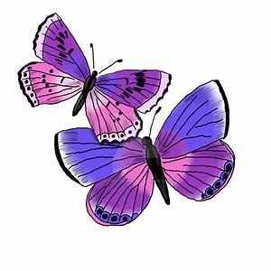 Purple Butterflies by enviedesigns on DeviantArt