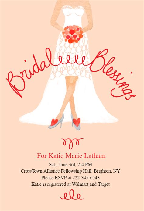 bridal blessings bridal shower invitation template