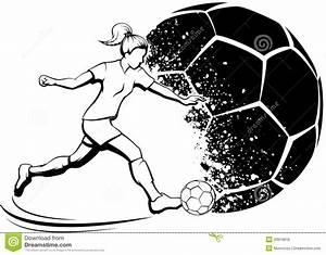 Girl Soccer Player With Splatter Ball Stock Photo - Image ...
