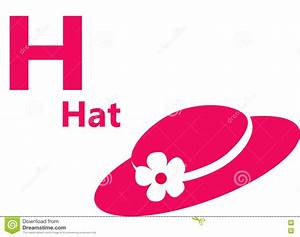 english alphabet letter h for hat stock illustration With hat with letter a