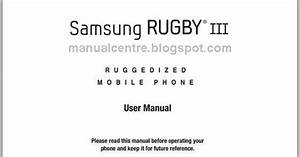 Samsung Rugby Iii Manual