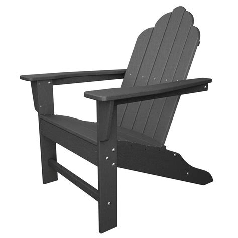 Polywood Long Island Slate Grey Patio Adirondack Chair