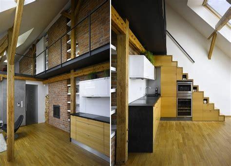 escalier gain de place  idees grande hauteur sous plafond