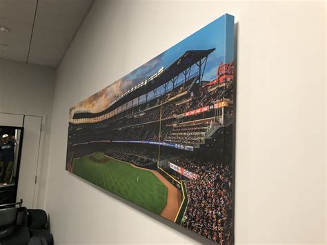 Shop our vast selection of atlanta braves wall decor featuring your favorite logos and players. Atlanta Braves Stadium Vinyl Wrap as Wall Art - Green Light Graphics