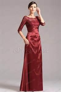 robe longue habillã e pour mariage robe de soirée longue dentelle bordeaux pour mariage x26121817
