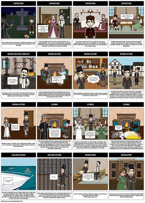 great expectations summary storyboard  rebeccaray