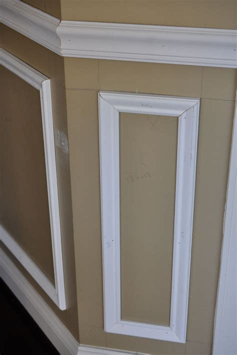 How To Cut Wainscoting by Remodelaholic Beginner Tips And Tricks For Installing Trim